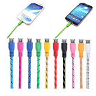 Multicolor Fabric Braided Micro USB 3.0 Data Sync Charger Cable For Samsung HTC
