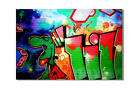 KUNST BILD pop art GRAFFITI LEINWAND BILDER GEMÄLDE new york london 3905x