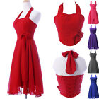 XMAS Vintage Retro 50's Pinup Swing Evening Party Prom Mother Bridesmaid Dress