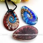1pc Teardrop Lampwork Glass Gold Powder Bead Charms Pendant For Necklace Fashion