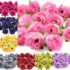 50pcs DIY Small Tea Bud Silk Beautiful Flower Heads for Clips Wedding New