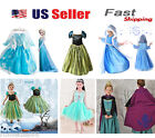 Gorgeous Frozen Queen Elsa  Princess Anna Costume Cosplay Party Dress Up
