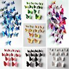 Hot 12pcs 3D Butterfly Art Design Decal Home Decor Refrigerator Wall Stickers