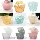 Set 5 Colors 60pcs Lace Edge Laser Cut Cake Cupcake Wrappers Cases Wedding Party