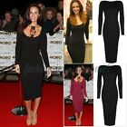 Nice Lady Long Sleeve Bandage Bodycon Evening Party Cocktail Long Party Dress