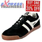 Gola Mens Classics Harrier Premium Suede Retro Trainers Black * AUTHENTIC *