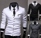 New Slim Fit Mens Cardigan Classic Style Buttons Long Sleeves Knit T-shirt CALO