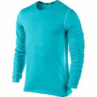 Nike Dri Fit Wool Crew Running Knit Gamma Blue Long Sleeve 553678-408