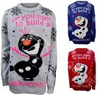 KIDS BOYS GIRLS CHRISTMAS FROZEN SNOWMAN LED LIGHTS JUMPERS 5-12 YEARS