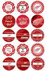 PreCut Detroit Red Wings One Inch Circles (Bottle Cap Images)