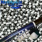 Hydrographics Dip Kit Water Transfer Printing Black/Clear Skulls LL-61