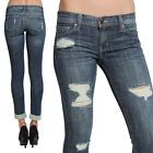 TheMogan Distressed Roll Up Boyfriend Skinny Jeans