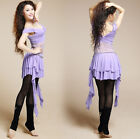 New Lace Siamese Blouse with Skirt 2pcs set Belly Dance Costume Dancewear