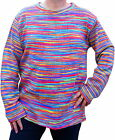 FAIR TRADE HIPPY BOHO FESTIVAL RAINBOW COTTON JUMPER - M - 3XL