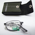 Folding bifocal reading glasses case compact clear power men women mm48V2