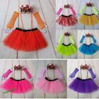 Fashion 80's Neon UV Adult Tutu Skirt  Beads Hen Fancy Dress Party Costumes 3Pcs