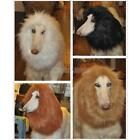 Pet Costume Lion Mane Wig for Dog Halloween Clothes Festival Fancy DIY Dress up