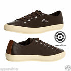 Lacoste Men's Fairburn Trainers Casual Shoes Brown Leather Flat Pumps All Sizes
