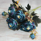 Home Craft Gift Floral Silk Flowers Party Bridal Rose Decor Bouquet  Home Garden