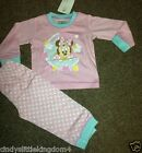 New Disney Minnie Mouse baby girls pink long pyjamas nightwear sleepwear
