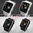 FAIRY TAIL LED WATCH /Anime watch +box whit & black Cool Binary watch COSPLAY