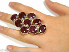 40 cts Genuine Natural Dark Ruby 925 Sterling Silver Ring size 8 adjustable to 9