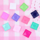 CHOOSE SIZE 10 or 8mm Colourful Rhinestone Square Tiles Decoden Kawaii Craft