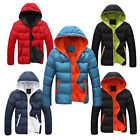 NEW 2015 Mens winter casual thick warm hooded coat jacket padded quilted outwear