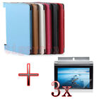 "VB3 Folio Leather Holder Case Cover +3x LCD For 10.1"" Lenovo Yoga Tablet 2 1050F"