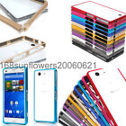 For Sony Xperia Z3 Mini Compact Aluminum Metal Buckle Bumper Frame Cover Case