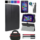 Magnetic Leather Folio Case Flip Stand Cover Accessory For HP Stream 8 5901/5909