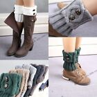2015 Lady's Knitted Trim Boot Cuffs Toppers Leg Warmers Flanging Crochet Socks