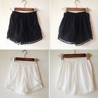 Trendy Design Comfy NEW Pom Pom  Tassel Festival Tribal Print Shorts 105 EWUK