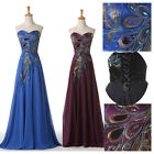 2015 Peacock ball gown MAXI Prom Evening Masquerade Long Wedding Dress Plus Size