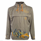 Adidas Originals E2E Mens Graffiti Wind Stopper Beige Pull Over Hooded Jacket