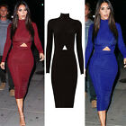 Women Colorblock Stretch Wear To Work Party Cocktail Evening Pencil Sheath Dress