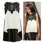 Sexy Women Lace Sleeveless Party Cocktail Evening Boho Summer Tops Lady Blouse