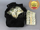 PROP MONEY USED LOOK $500,000 DUFFEL BAG PACKAGE for Movie, TV, Videos Novelty