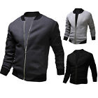 2015 Spring Mens Casual Sports Baseball Jacket Slim Young Letterman Outwear Coat