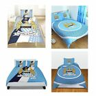 MANCHESTER CITY FC SINGLE AND DOUBLE DUVET COVER SETS BEDDING BEDROOM FREE P+P