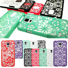 Rubberized Vintage Damask Flower Thin Hard Case Cover For Samsung Galaxy S5