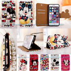 Cute Minnie Mouse Cartoon Flip Stand Leather Wallet Case Cover For iPhone 6 Plus