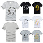 Fashion Boy's Men's Casual Round Neck Headset Basic Short Sleeve T-Shirt Tee