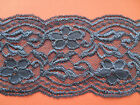 """NEW~ Pretty Grey Vintage Stretch Scalloped Lace 4""""/10 cm Lingerie/Costume"""