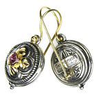 Gerochristo 1212 Solid Gold  Sterling Silver Medieval Byzantine Earrings