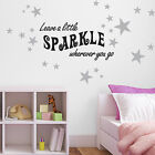 Leave A Little Sparkle Wall Sticker - pack of 60 silver star sticker included