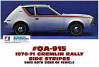 QA-915 1970-71 AMC - AMERICAN MOTORS - GREMLIN - RALLY SIDE STRIPE DECAL