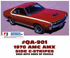 QA-901 1970 AMC - AMERICAN MOTORS - AMX SIDE C-STRIPE DECAL - LICENSED