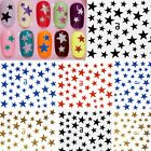 1/5pcs Feuilles DIY 3D Stickers Autocollant Ongles Etoile Décor Gel UV Nail Art