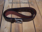 Real Leather Brown Men's Belt LARGE (made in England), that can be PERSONALISED